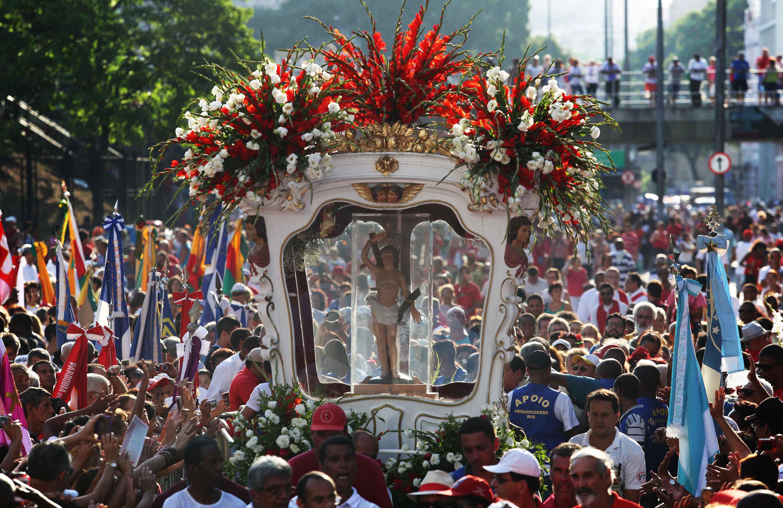 A procissão de São Sebastião ocorre em várias cidades do Brasil todos os anos no 20 de janeiro. Foto: Beth Santos/ PMRJ via FotosPublicas.com.