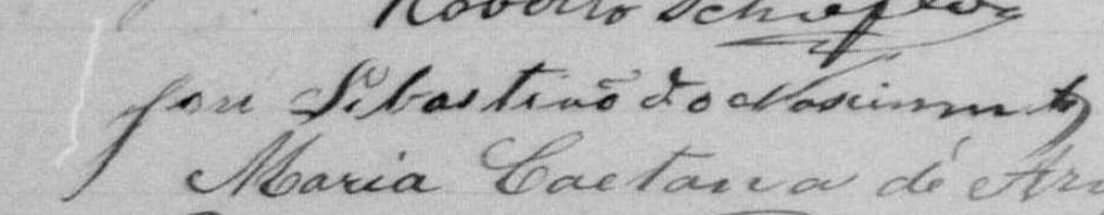 Assinatura de José Sebastião, na ocasião de seu casamento civil, em 1892.