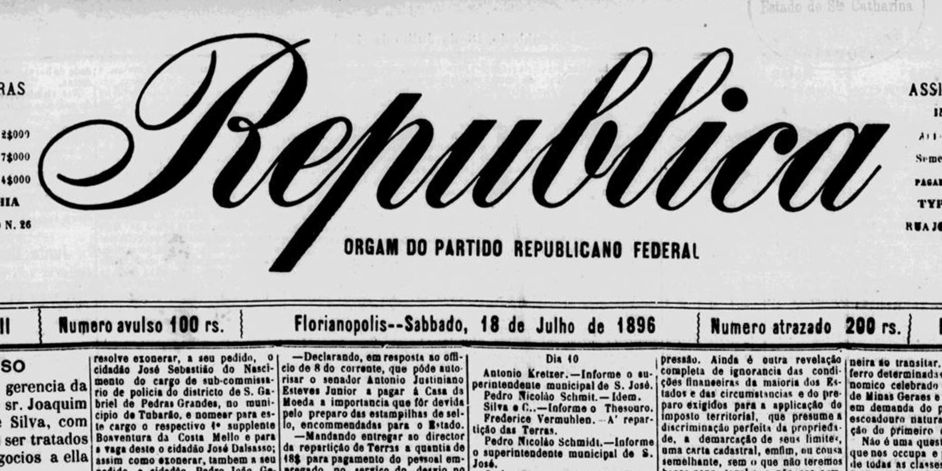 j-sebastiao exoneracao republica 1896