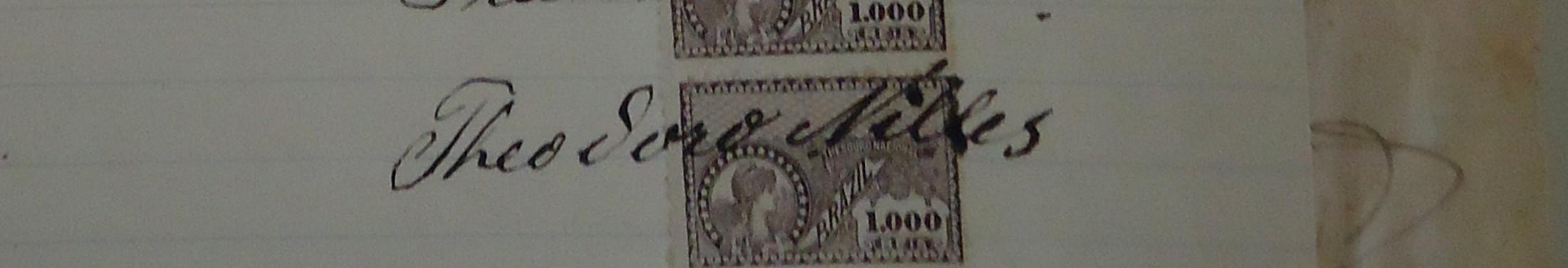 Assinatura de Theodoro Nilles. Porto Alegre, 1913.