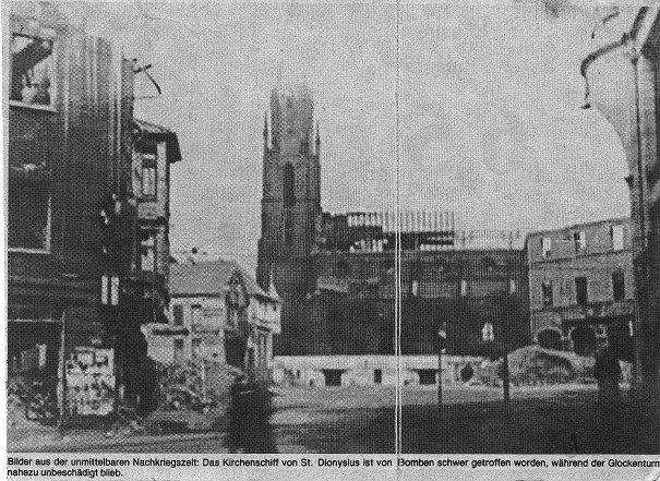 Fachada após bombardeio