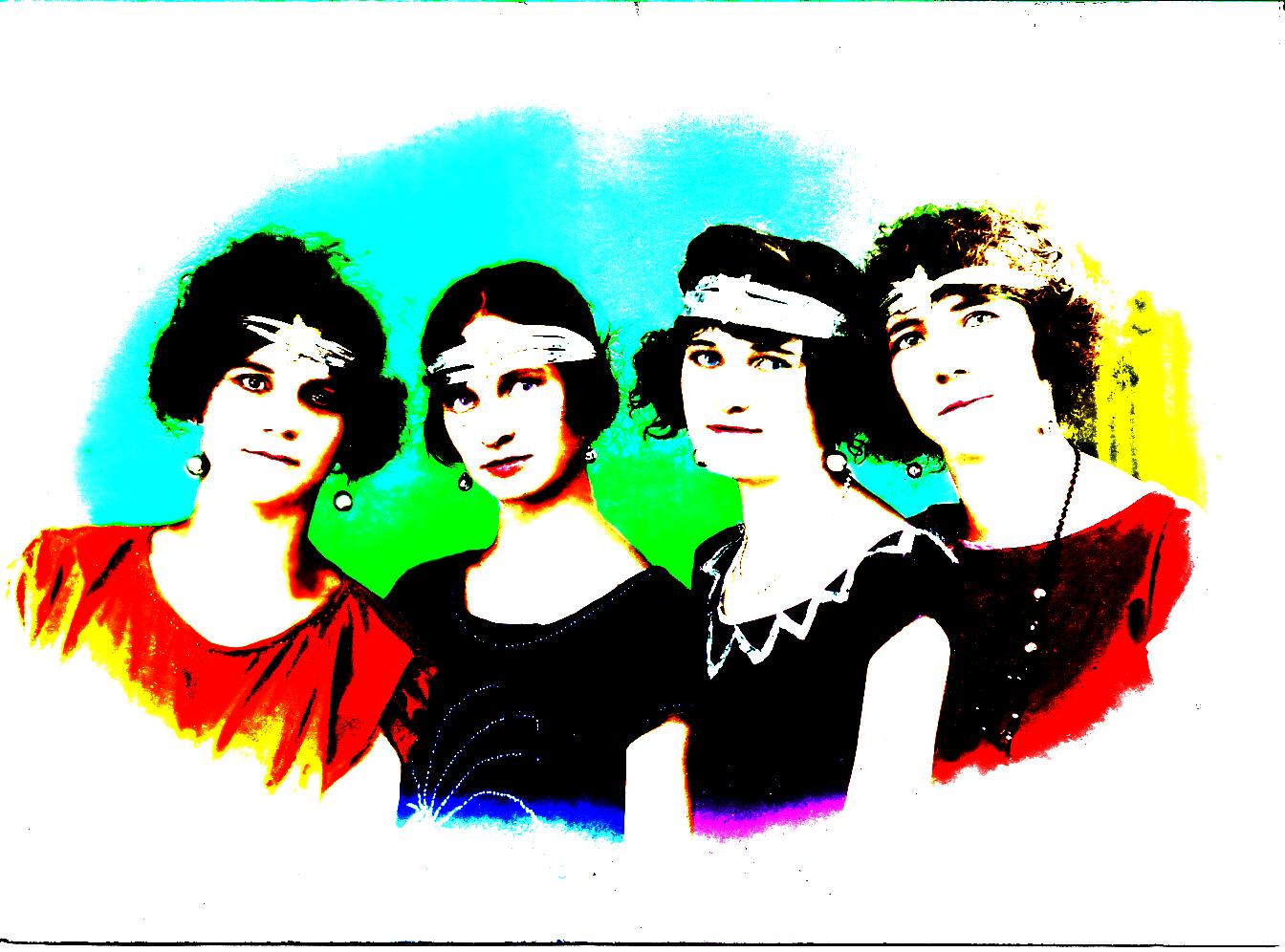 Colorização de uma foto de família, 1929