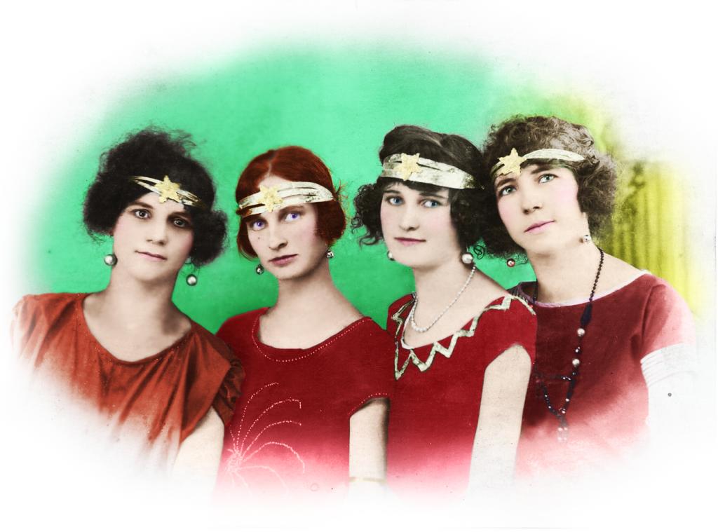 Foto: Irmãs Nilles e amigas, Porto Alegre, 1929 / Arquivo pessoal da Helga.
