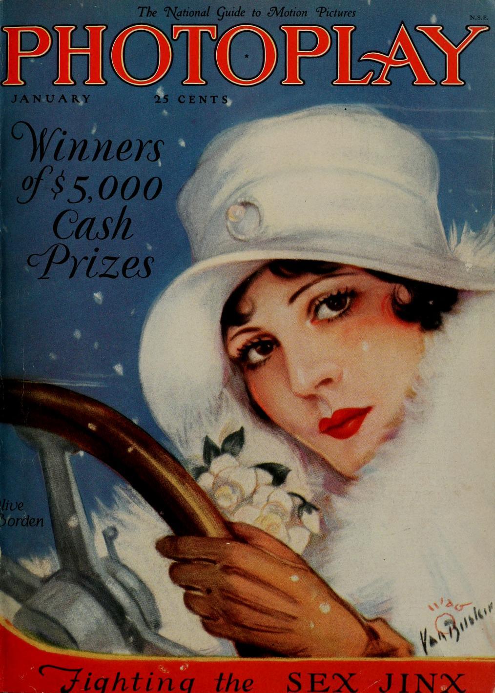 Capa da Photoplay, janeiro de 1927,
