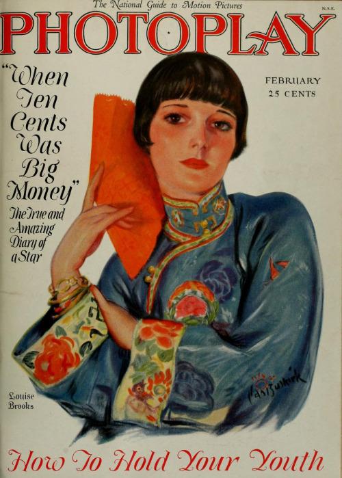 Capa da Photoplay, fevereiro de 1927,